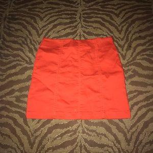Forever 21 Skirts - Orange mini skirt with zipper at the back